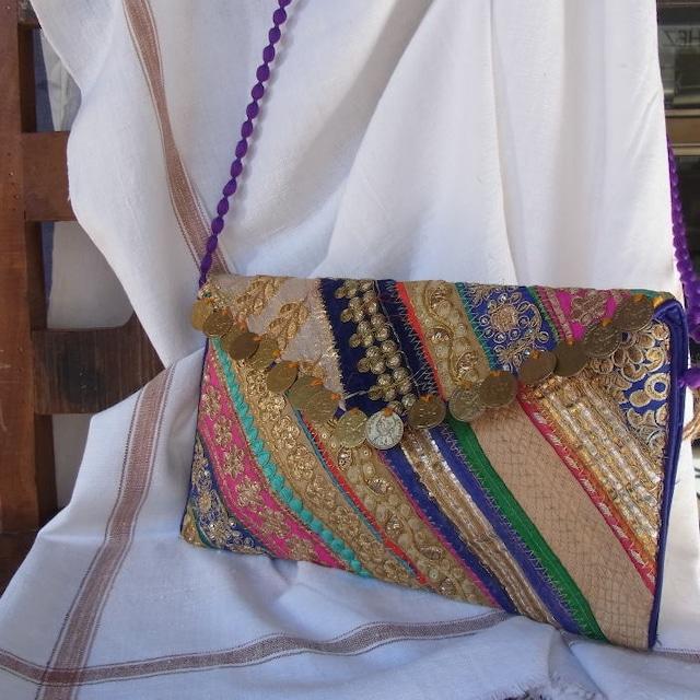 バンジャラ刺繍コインクラッチバッグ