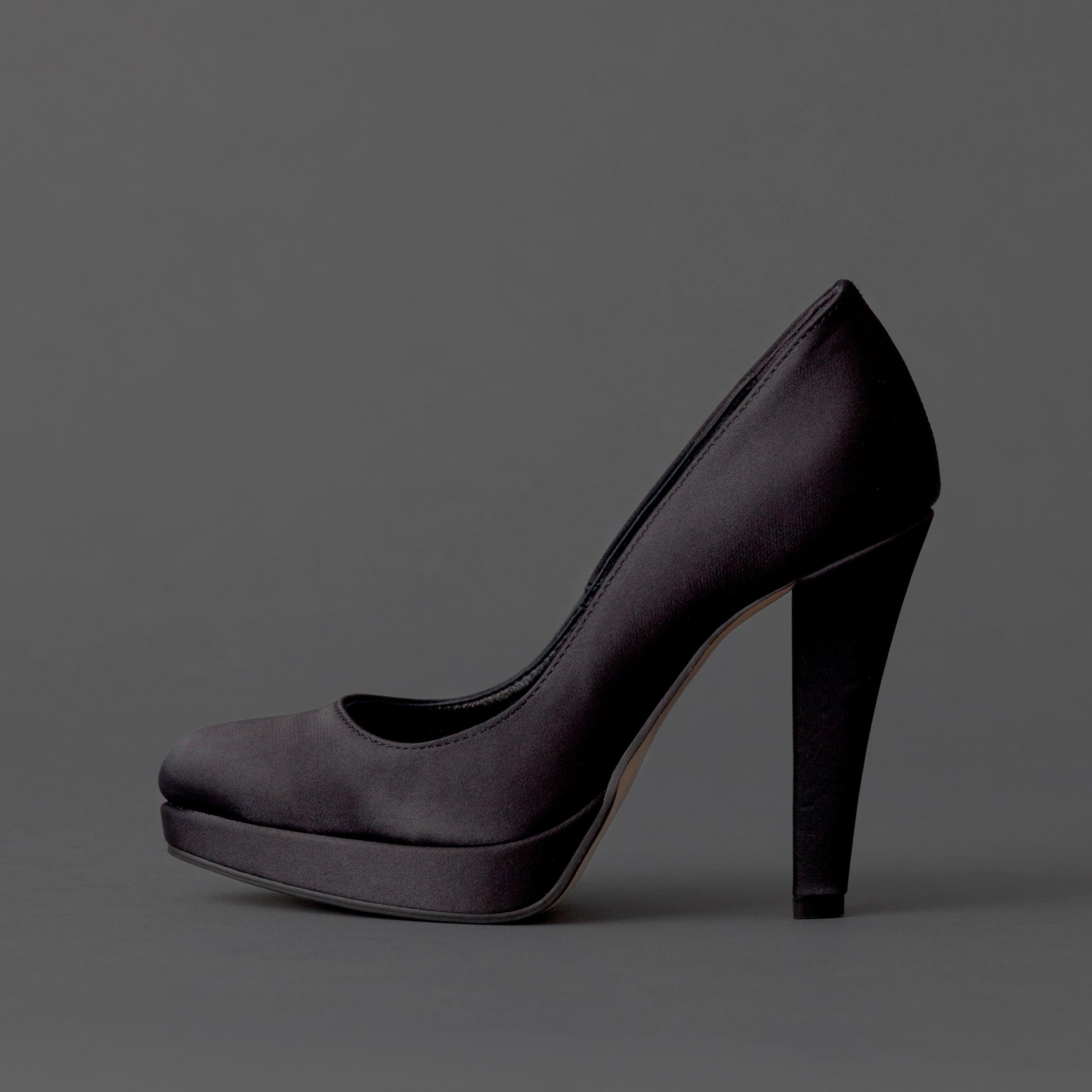 Satin / Close Toe / 12cm / BK 【1121 BK】