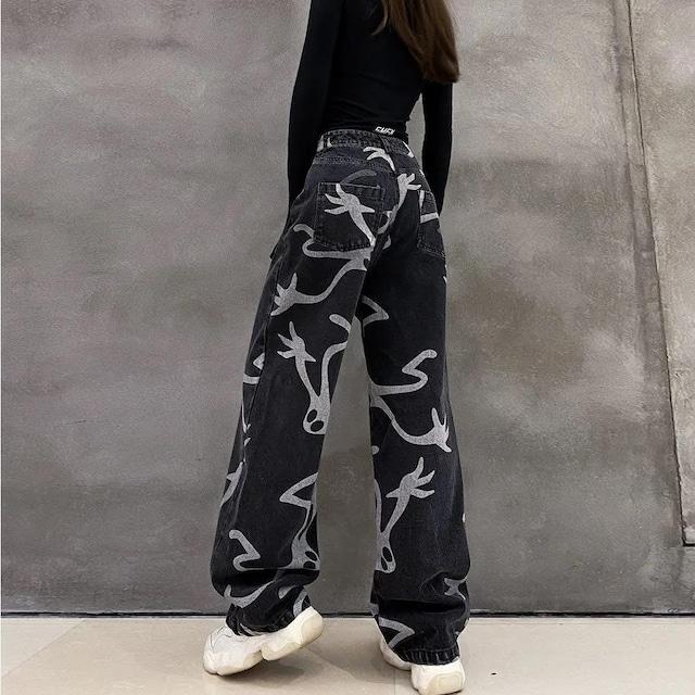 【ボトムス】カジュアルストリート系プリントファッションパンツ52127147