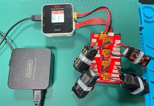 NH2153◆2 IN 1 PGパラレル充電ボードXT30 XT60プラグ4パックをサポート2-6Sリポバッテリー