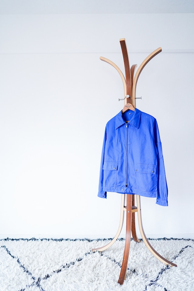"""【1960-70s】""""Adolphe Lafont"""" 3-Pockets Zip-up Work JKT / y6"""