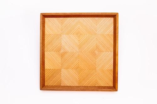 杉 正方形のトレー 0313