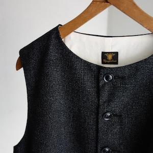 classic artisanal tweed vest / black