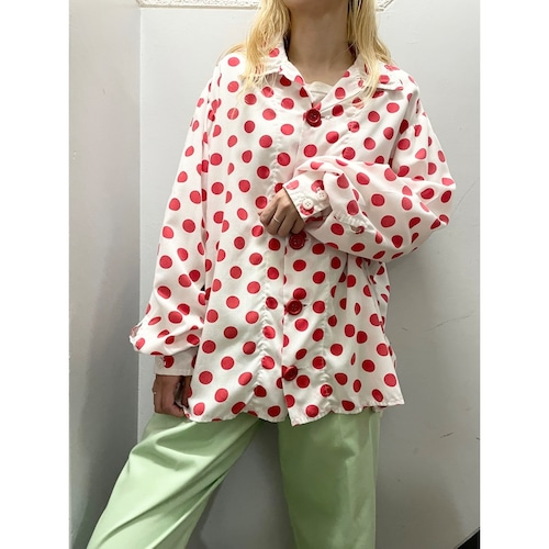 60's〜 ドット柄 パジャマシャツ