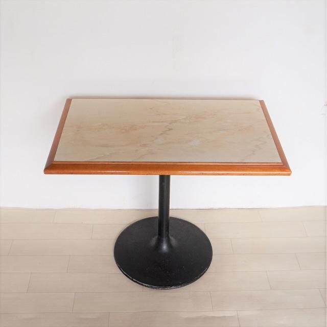 パンダ 大理石柄テーブル