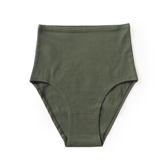 hi-waist (dark green)