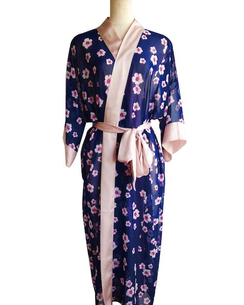 Long Robe Sakura Navy ロングローブサクラネイビー