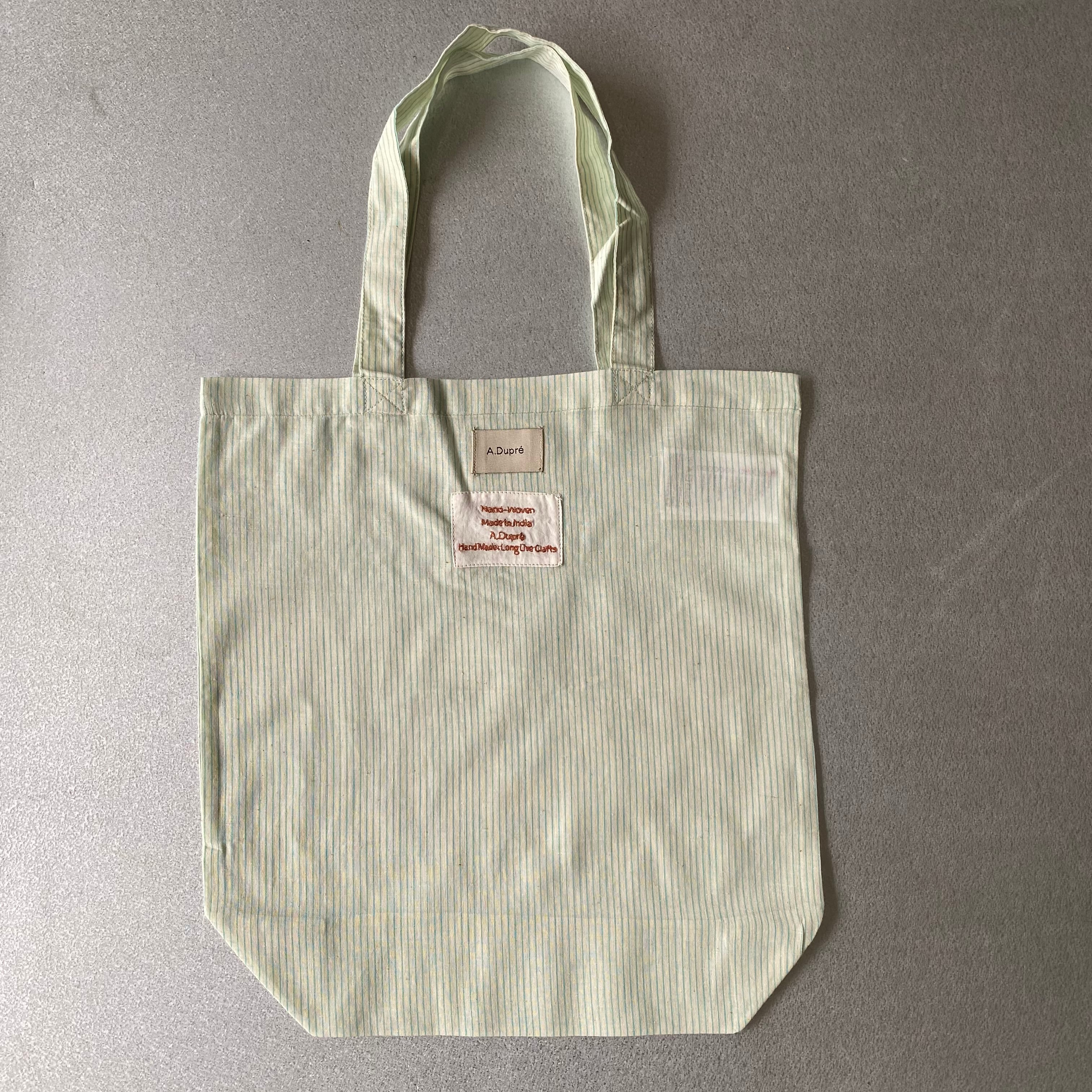 "Tote bag ""green stripe"""
