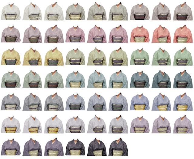 女性着物-光沢の生地-60個セット-B213