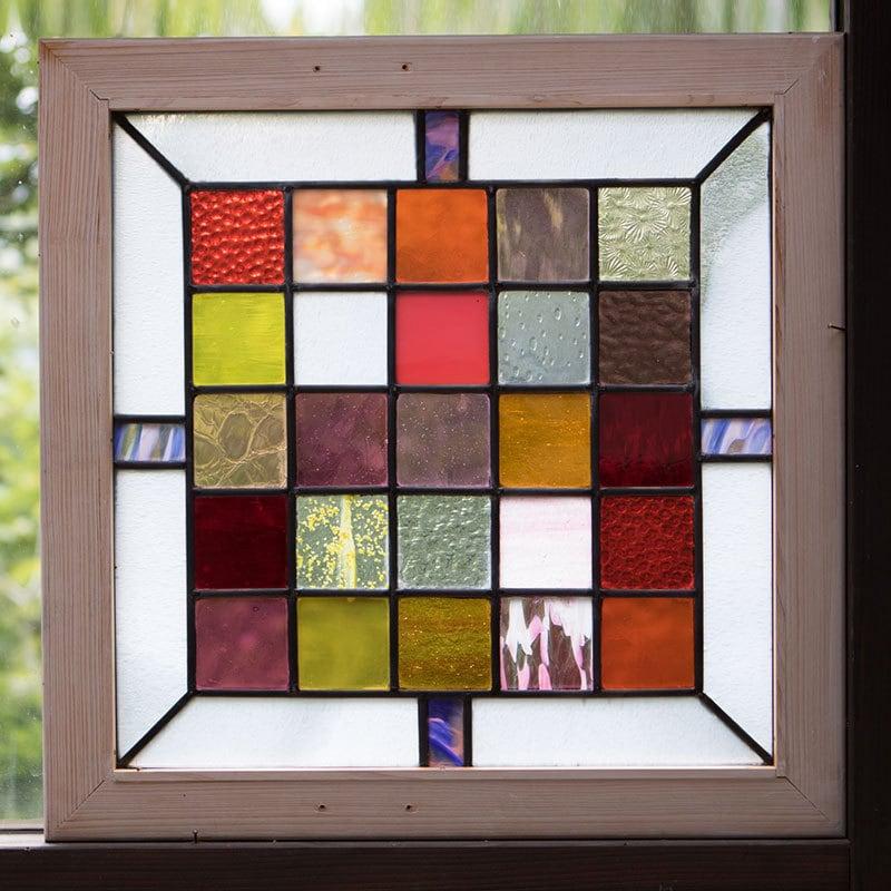 色彩(ステングラスのアートパネル) 03050202