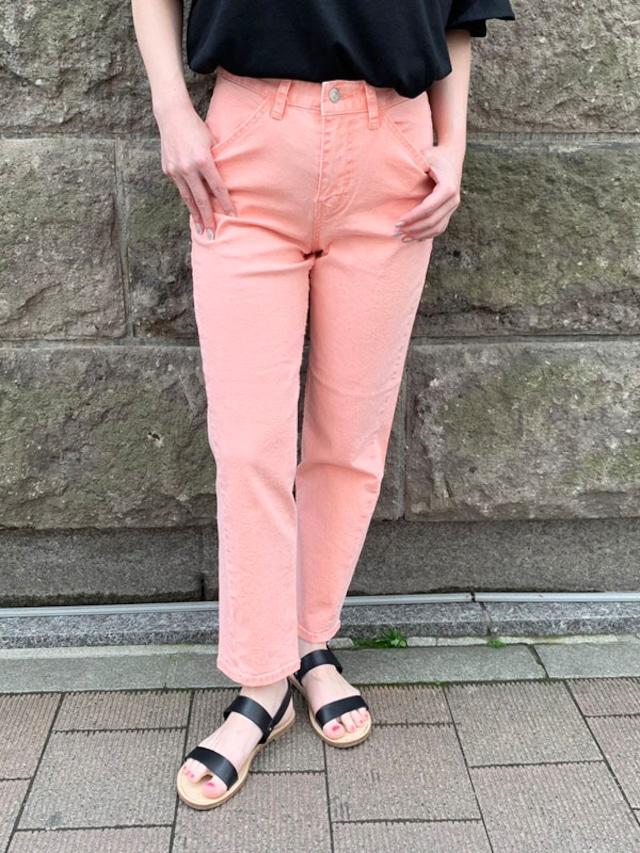 【インスタLIVE商品】カラーストレートデニム[Color:ピンク]