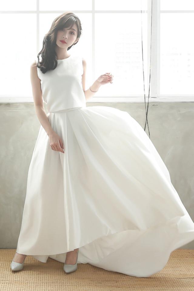 (選べる4タイプ) セパレートドレス      結婚式  2次会 花嫁ドレス 結婚式  セパレート ドレス ウェディングドレス  ((アールベリー オリジナル)