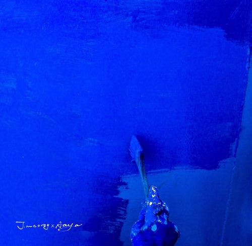 青い写真家のウォールデコ
