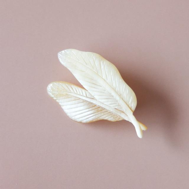 BISOU - ブローチ - 木の葉 I