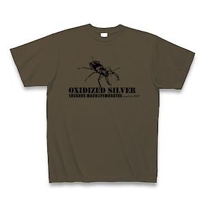 ミヤマクワガタ Tシャツ -maylime- オリジナルデザイン オリーブ