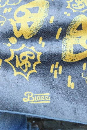 6th Wall by ATOMONE SUPER BIG TOWEL [ BROWN x MUSTARD ]