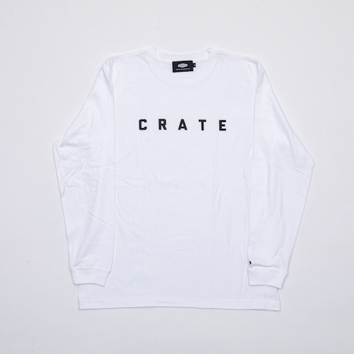 New Crate Simple Logo L/S Tee  White