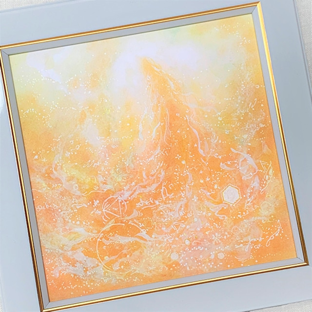 龍神 パステルアート 原画 『満たされる心』 龍神様が導くあなたのヒカリ