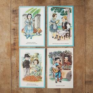 スペインのポストカード 4種