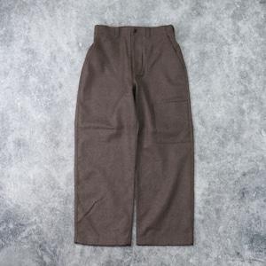 【MANUAL ALPHABET】BONDING WOOL BAKER PANTS (MOCA) マニュアルアルファベット ウール パンツ 日本製 MADE IN JAPAN