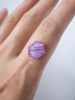 Hexagon Pink Sapphire -009