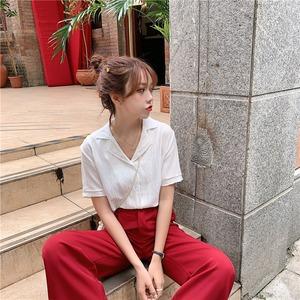 ルーズなリッドカラーシャツ S2118