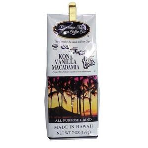 バニラマカダミア(挽き済みの粉) ハワイアンアイルズ(7oz 198g) ハワイコナコーヒー フレーバーコーヒー