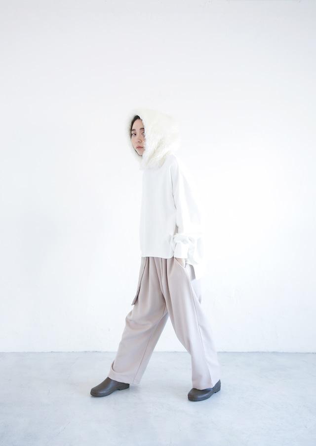 【21AW】ミチリコ(michirico) Fur foodie white【F】スウェット