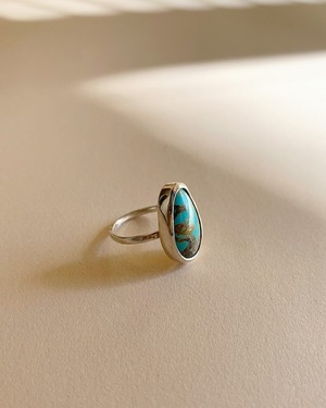 Turquoise silver ring    OBH-034