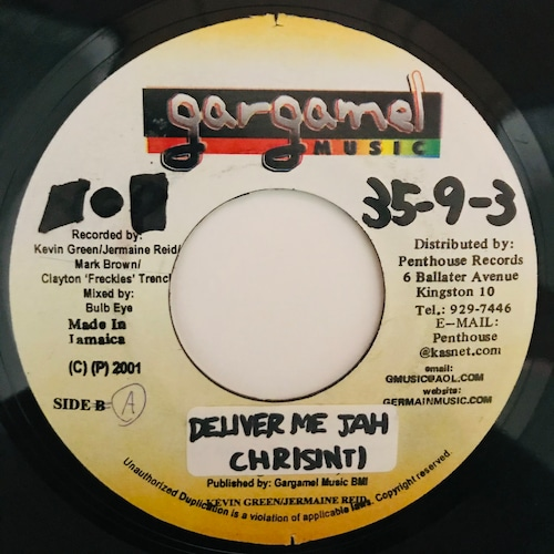 Chrisinti - Deliver Me Jah【7-10986】