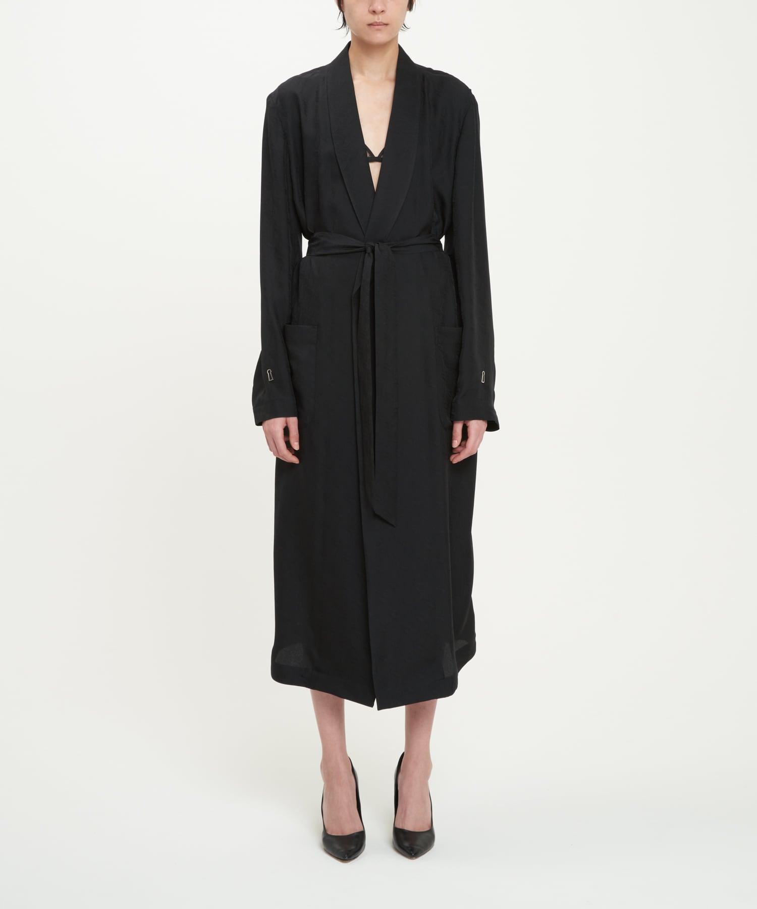 Black Cupro Paisley Robe