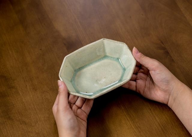 緑灰釉 八角鉢(中鉢・小鉢)/くるり窯