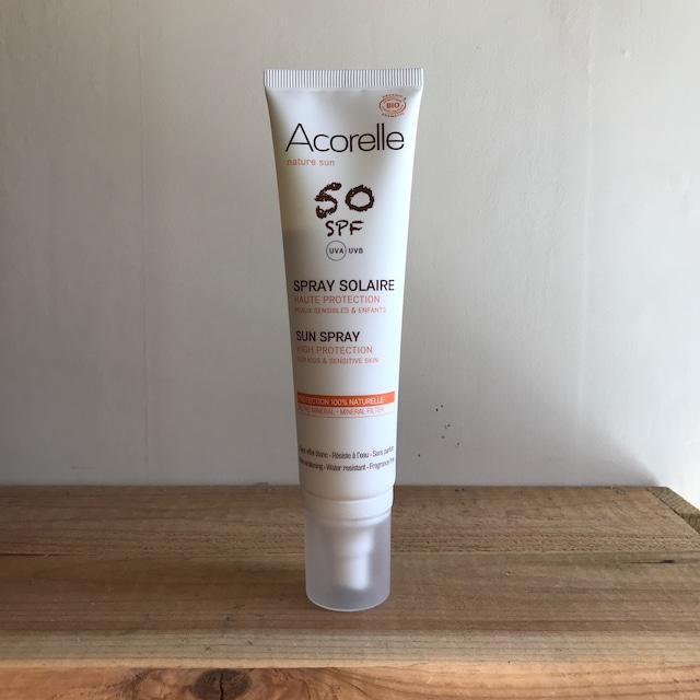 """"""" Acorelle Sun protection spray / サンプロテクションスプレー50+(ミルクタイプ)【オーガニック】"""""""