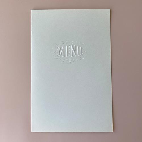 France  menuカード・エンボス  3枚セット / vp0171
