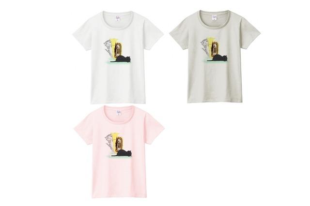 チューバ猫のTシャツ