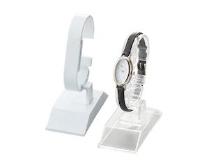 時計スタンドプラスチック製 時計ディスプレイスタンド Cリング長さ角度調整可 AR-1968