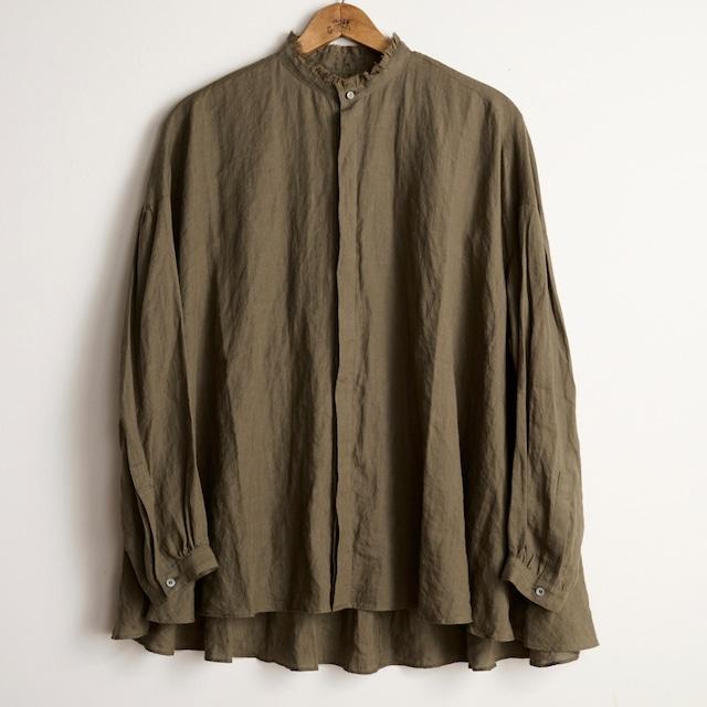 suzuki takayuki スズキタカユキ flared blouse khaki