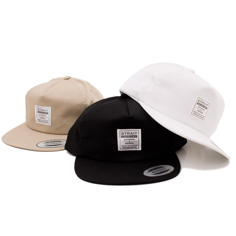 TAG 5PANEL SNAPBACK CAP #BLACK