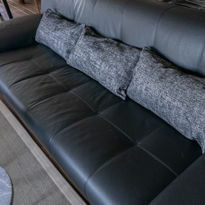 クッションカバー( Maria-BLACK )58x30