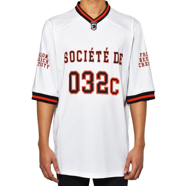 032c FOOTBALL JERSEY WITH PUFF PRINT  WHITE