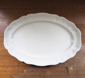 Sarreguemines(サルグミンヌ)花リム オーバル皿 大 A