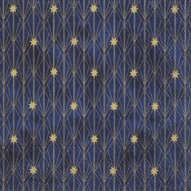 2021秋冬【IHR】バラ売り2枚 ランチサイズ ペーパーナプキン ARTDECO LITTLE STARS ブルー