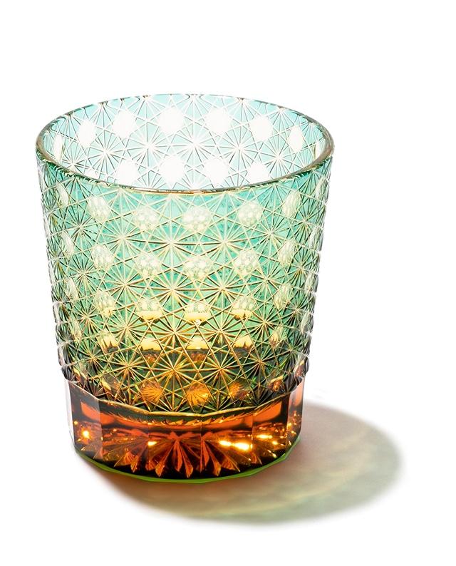 江戸切子 縁繋ぎ(全6色) クリスタルガラス