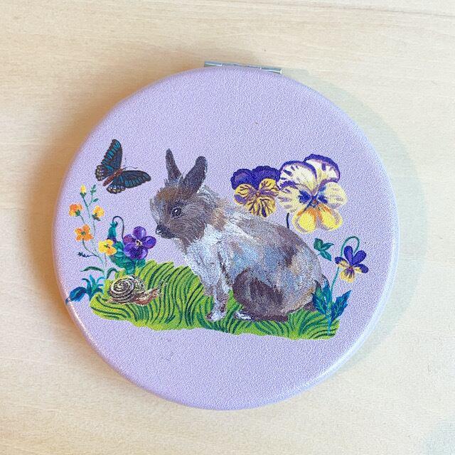 Nathalie Lete Compact Mirror Rabbit ナタリーレテ コンパクトミラー