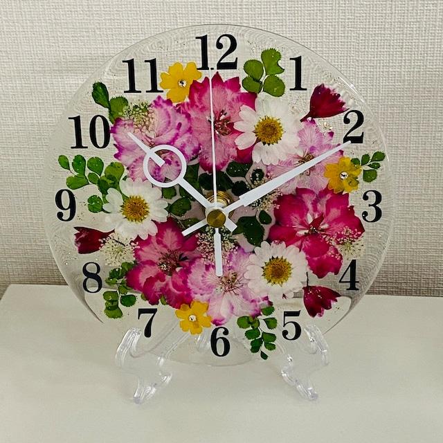 ✿花時計 【ラークスパー・ピンク】 φ15cm ハンドメイド ギフト ボックス入り