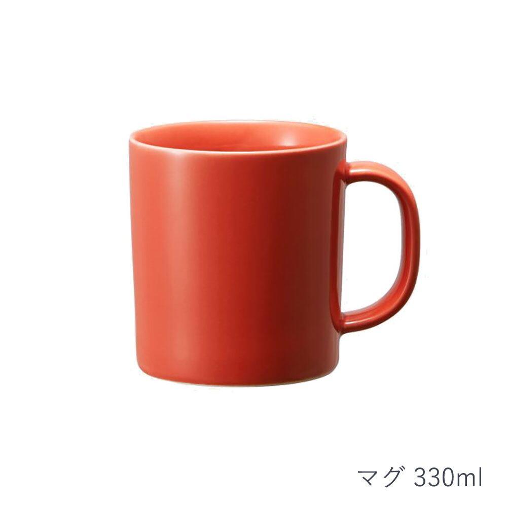 西海陶器 波佐見焼 「コモン」 マグ 330ml レッド 13261