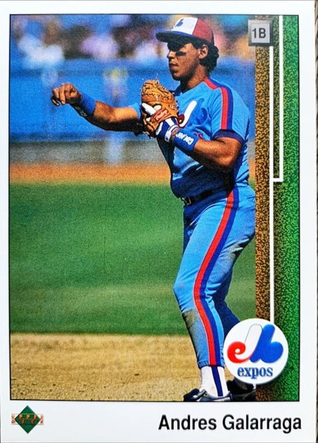 MLBカード 89UPPERDECK Andres Galarraga #115 EXPOS