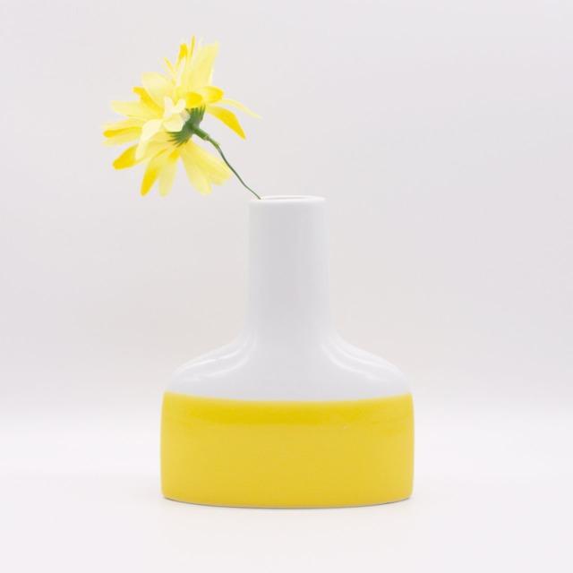 【限定1点 アウトレット品】波佐見焼 family vase 花瓶 M イエロー 256852 豆豆市202