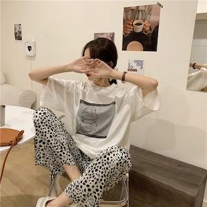 Leopard pattern pants