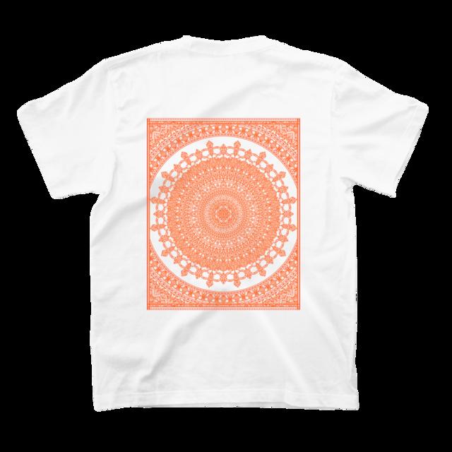 スクウェアマンダラ バックプリント 半袖 Tシャツ